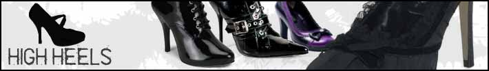 Gothic high heel shoes