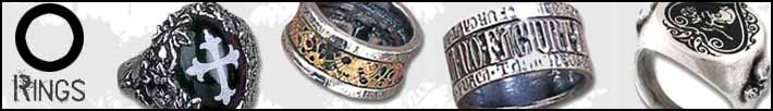 Alchemy goth rings
