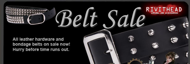 Huge leather belt sale!