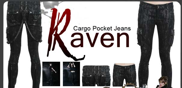 Raven cargo pants at Rivithead