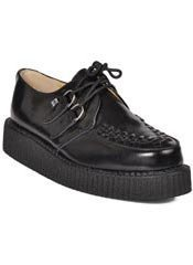 T.U.K. black low round creepers