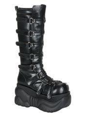 BOXER-200 Black Straps Boots