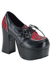 CHARADE-12 Plaid Platform Heels