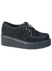 CREEPER-101 Black Suede Creepers