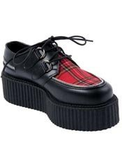 CREEPER-406 Plaid Leather Creepers