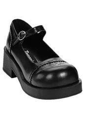 CRUX-07 Black Maryjane Shoes