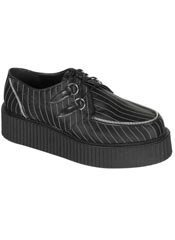 CREEPER-401 Pinstripe Satin Creepers