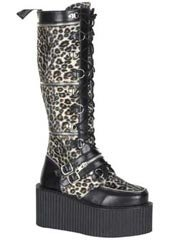 CREEPER-812 Black PU Boots