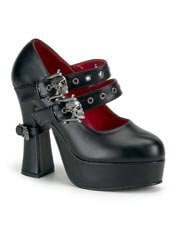 DEMON-16 Skulls Buckle Shoes