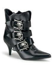 FURY-06 skull ankle stilettos