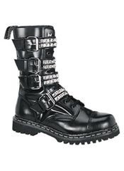 GRAVEL-10S Black Leather Boots