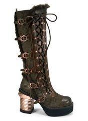 LANGDON brown steampunk boots