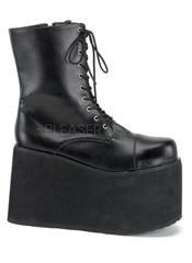 MONSTER-10 Black Platform Boots