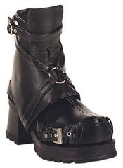 PIRATE-08 Black Strap Boots