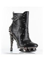RAVEN black rivet boots