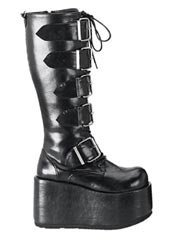 RIPSAW-518 Black Buckle Boots