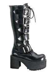 RANGER-318 Black Patent Boot