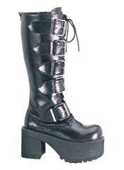 RANGER-318 Black PU Boots