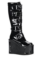 TRANSFORMER-800 Black Patent Platforms