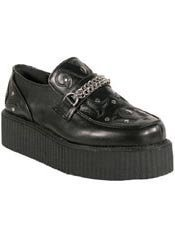 V-CREEPER-509 Black PU Creepers