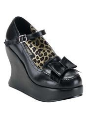 BRAVO-09 Black Bow Shoes