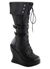 BRAVO-114 Buckle Wedge Boots