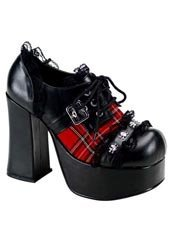 CHARADE-34 Plaid Skull Shoes