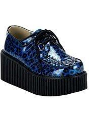 CREEPER-208 blue leopard creepers