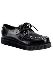 CREEPER-602 Black Leather Creepers