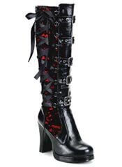 CRYPTO-106 Black Lace Boots