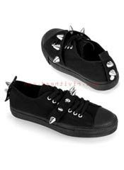 DEVIANT-04 Black Spike Sneakers