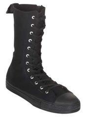 DEVIANT-201 Black Sneaker Boots