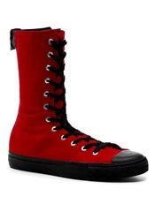 DEVIANT-201 Red Sneaker Boots