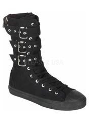 DEVIANT-202 Black  Canvas Sneakers