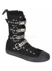 DEVIANT-203 Black Sneaker Boots