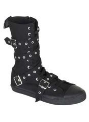 DEVIANT-204 Black Straps Sneaker Boot