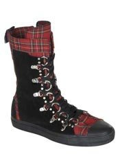 DEVIANT-205 D-Ring Sneaker Boot Plaid