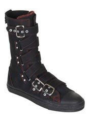 DEVIANT-207 Long Strap Sneaker Boot Red
