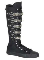 DEVIANT-304 Black Sneaker Boots