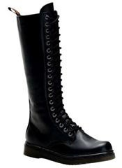 DISORDER-400 black laceup combat boots