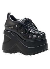 OUTLAW-101 Black Platform Shoes