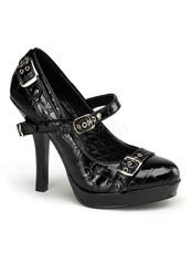 SECRET-14 Black Pinup Heels