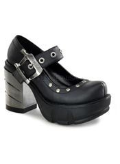 SINISTER-59 Black Cromed Platforms