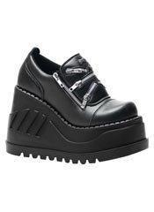 STOMP-16 Black Platform Shoes