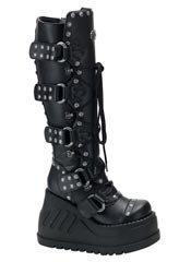 STOMP-313 Black Platform Boots