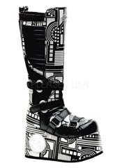 TECHNO-856UV Black Cyber Boots