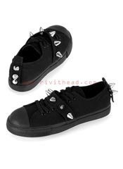 TYRANT-04ST Black Spiked Sneakers