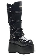 WICKED-732 Black Platform Boots