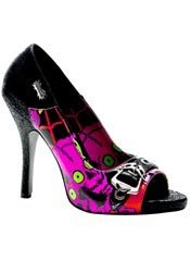 ZOMBIE-08 Black Graffiti Pumps