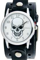 Vintage Rose Mystery Skull Cuff Watch